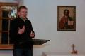 Mācītāja Oskara Laugaļa lekcija. Foto: Vilnis Rasiņš